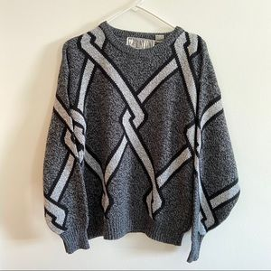 Vintage Chunky Grey Sweater